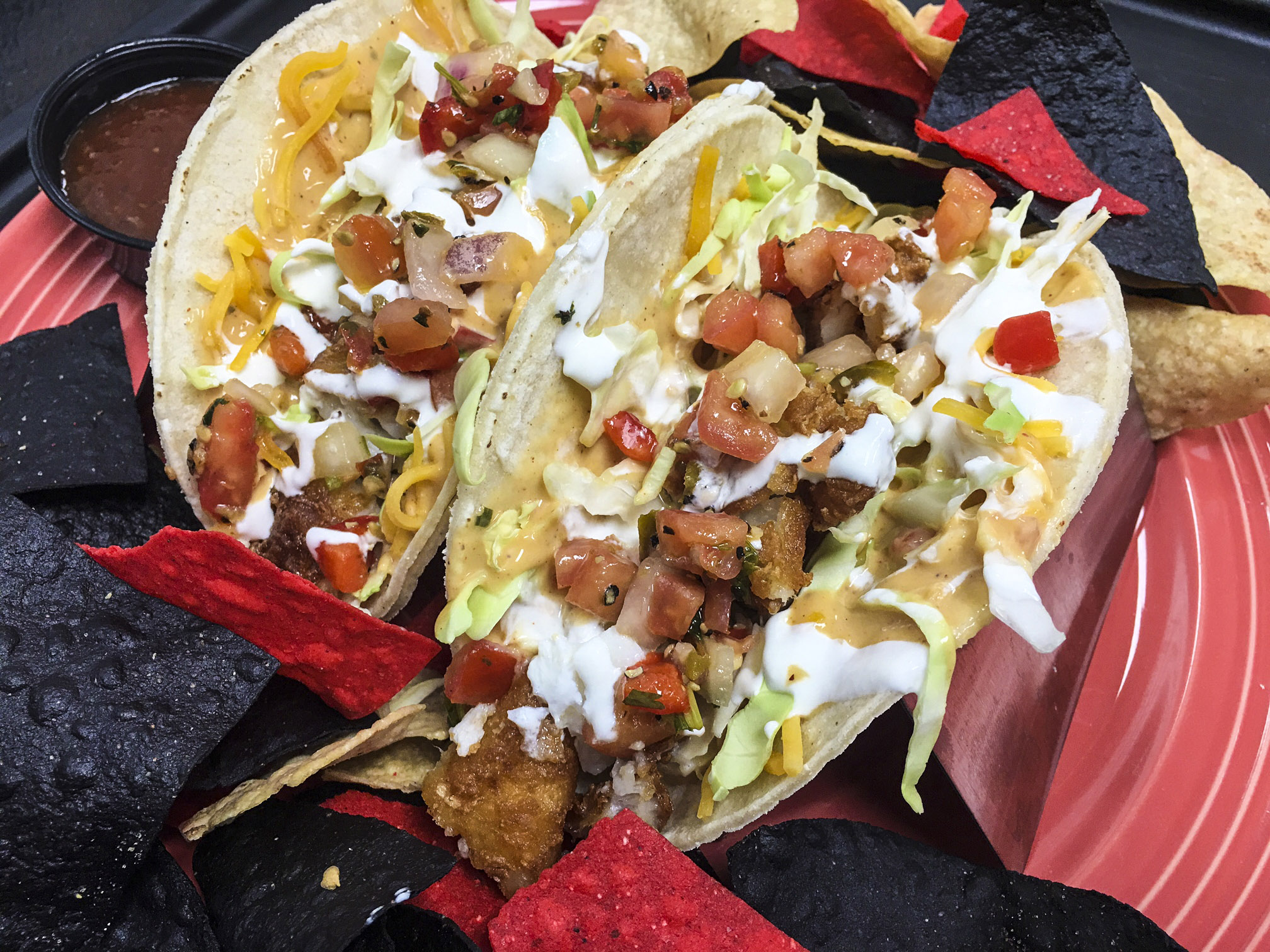 Sandbar bar grill family restaurant bar grill sioux for Baja fish tacos menu